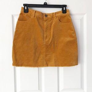 Forever21 mustard mini skirt